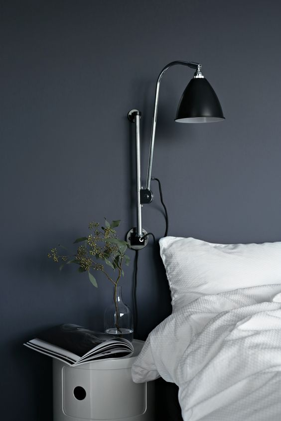 the perfect blue in nina holst's guest room, scandinavian bedroom inspiration