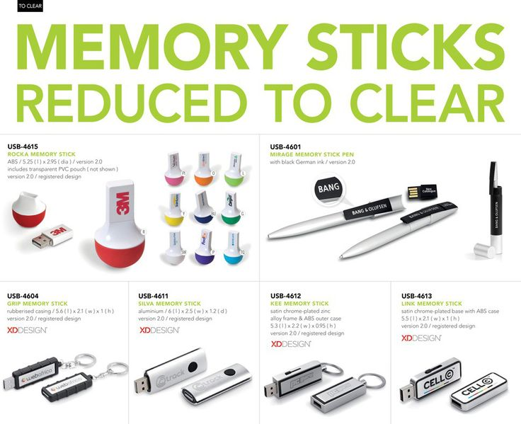 Memory STicks Reduced To Clear