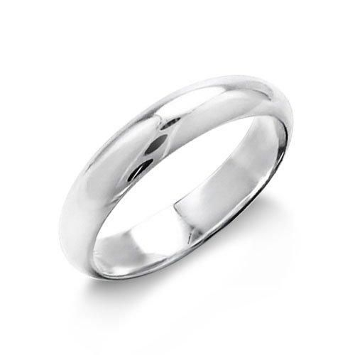 Bling Jewelry Sterling Silver 4mm Polished Wedding Band