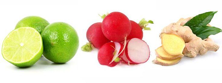 Limones, Rabano y Jengibre