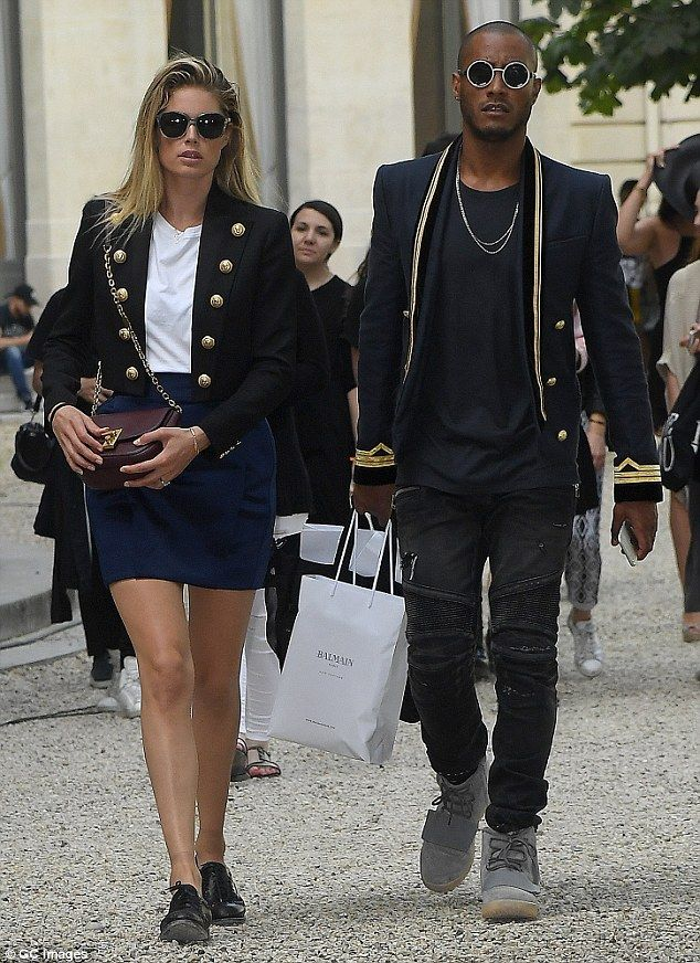 Straight off the catwalk! Doutzen Kroes looked just as stylish off the runway, as she left...