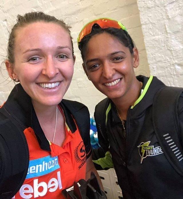 India S T20i Skipper Harmanpreet Kaur With Kate Cross During Wbbl Latest Cricket News Women Cricket