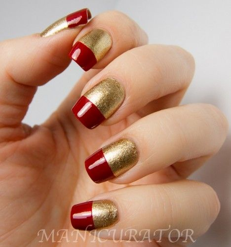 Fabulous Iron Man Inspired Nails #ironman3event. Also can do in red and blue for Captain America :D
