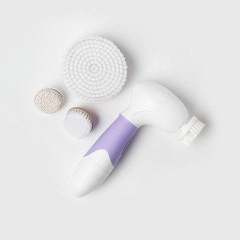 Radiant, healthy skin starts with a complete beauty routine. The Spin for Perfect Skin face and body brush is a versatile tool designed to keep your skin looking fresh and flawless. A powerful and safe rotary action spins the head of the device to thoroughly cleanse, exfoliate, and lift away unwanted debris, so you can banish blemishes and spin your way to clear, beautiful skin.