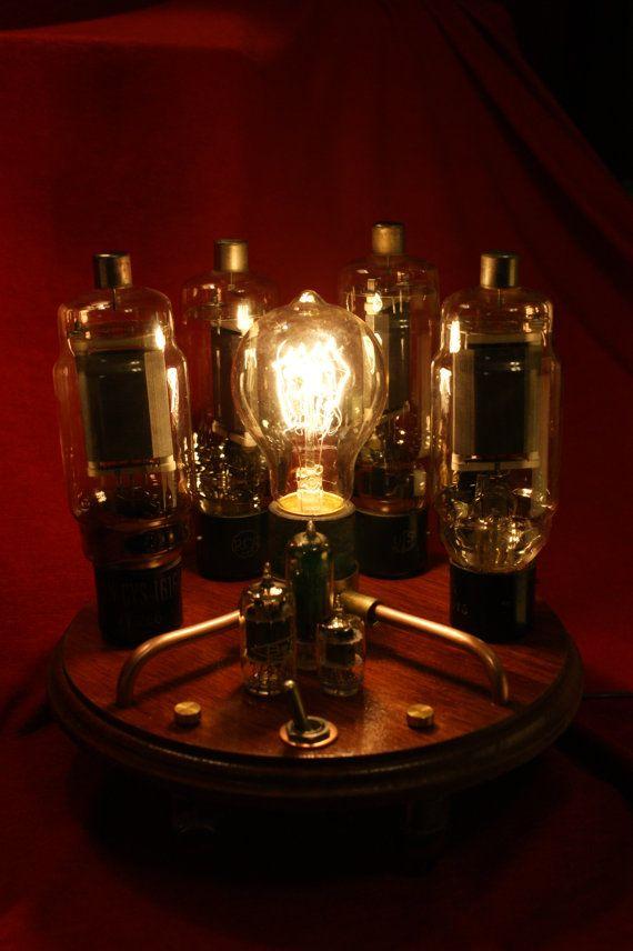 Steampunk Vacuum Tube Lamp by Steampunkarsenal on Etsy, $85.00