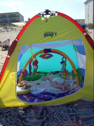 Baby Beach Tent definitely doing this this summer! : beach tent for baby uv protection - memphite.com