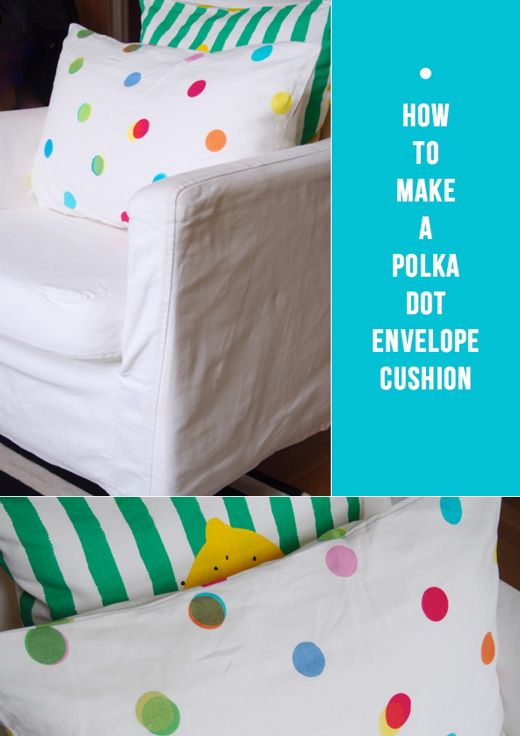 DIY – How To Make A Polka Dot Cushion Cover