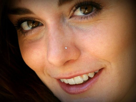Diamond Nose Stud 14k 04 Carat 2 2mm Genuine Diamond Nose Nose