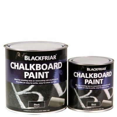 Blackboard and Chalkboard Paint - Matt Black Chalk Paint, great for creating #DIY #Chalkboards. Also great for designing shabby chic furniture and rustic designs.  Suitable for use with liquid chalk pens and traditional chalk.  www.chalkpensuk.com 01353 665141 #paint #chalkpen #chalkpaint #shabbychic #furniture #doityourself