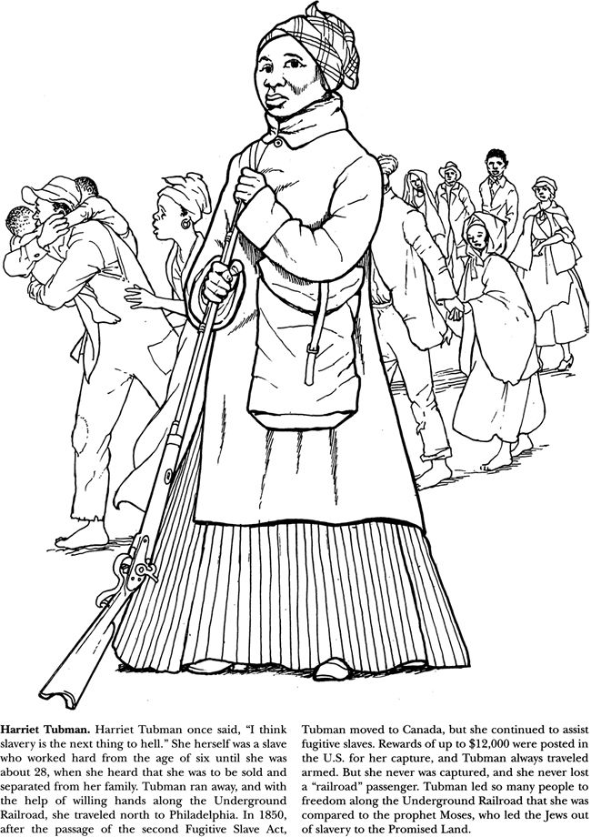 The gallery for harriet tubman coloring pages for Underground railroad coloring pages