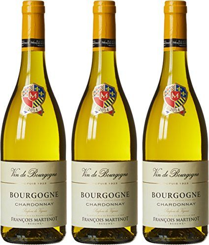 FRANÇOIS MARTENOT France Burgundy Vin Blanc Parfum Vignes AOP Bourgogne Chardonnay 2014 75 cl – Lot de 3: Palais généreux, rond avec une…