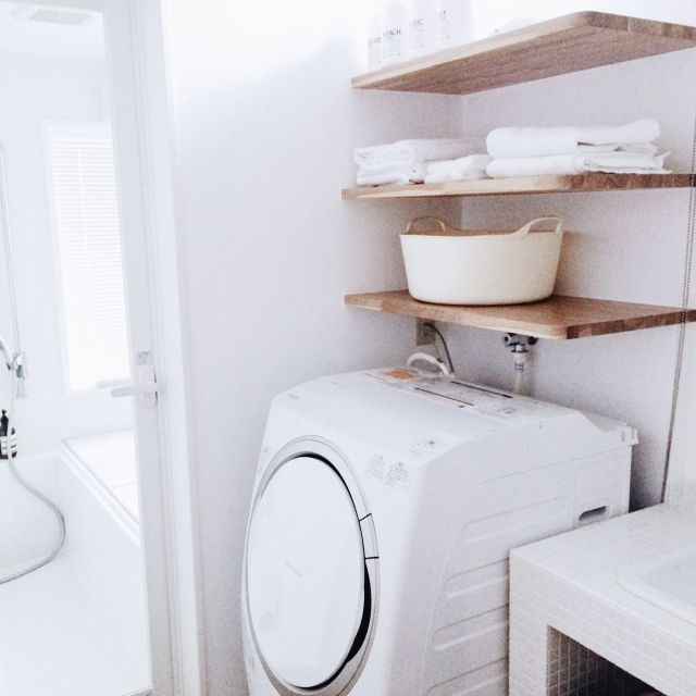 新築/洗面所/サニタリー/洗濯機/洗濯機周り/お風呂…などのインテリア実例 - 2015-04-15 18:45:31 | RoomClip(ルームクリップ)
