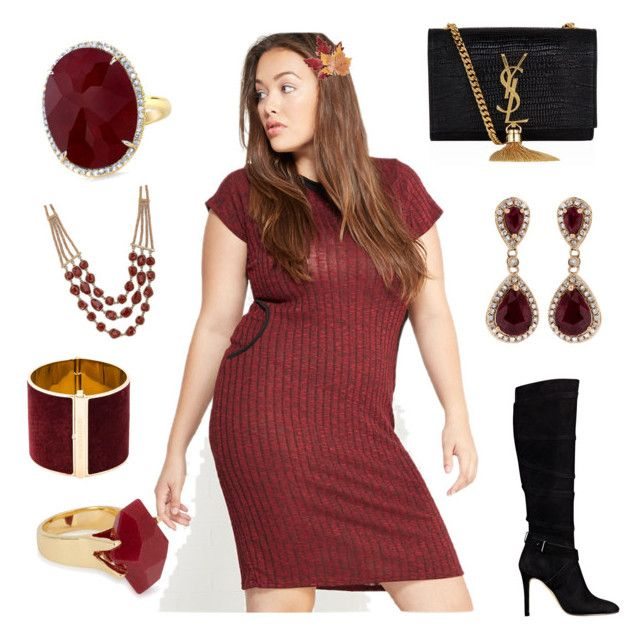 """So I went out and got Vagazzaled"" by corinna-smith-lockamy on Polyvore featuring Wet Seal, GUESS, Dsquared2, Lucky Brand, Lola Rose, Croft & Barrow, Effy Jewelry, Yves Saint Laurent and plus size dresses"
