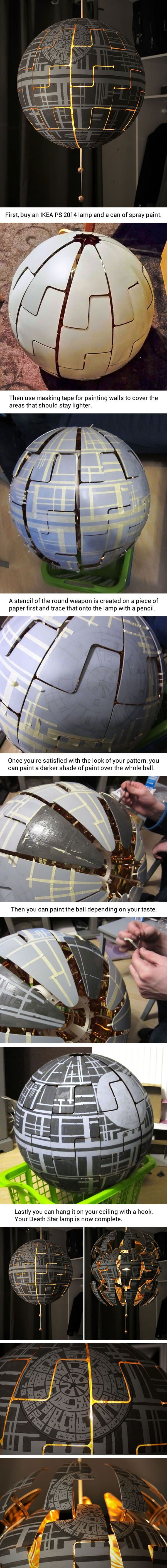 """How to make your own Death Star lamp (by Lylelo)"""
