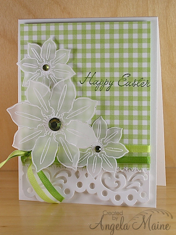 Amazing Card Making Ideas Using Vellum Part - 2: Seriously Fine Vellum Flowers! SO Pretty. Flower CardsDiy ...