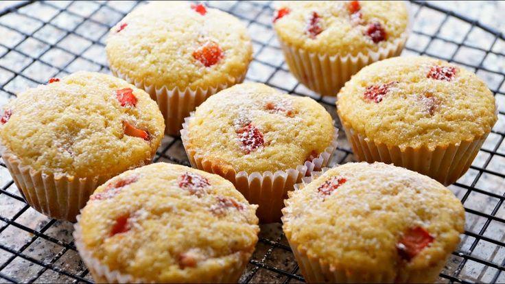¡Muffins de Fresa y Limón! (Fácil) 🍓 - Francisca Mejía