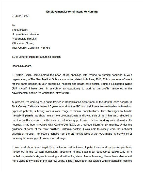 Letter Of Interest Template Letter Of Intent Letter Of Interest