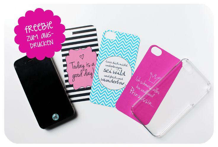 diy phone cover selbst gestalten und freebies zum ausdrucken