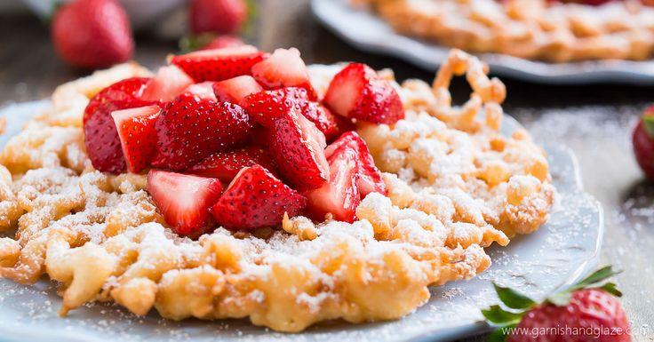 Funnel cakes garnish glaze recipe gluten free