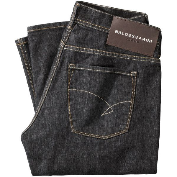 BALDESSARINI Jeans Straight Leg ($89) ❤ liked on Polyvore featuring men's fashion, men's clothing, men's jeans, pants, denim, mens straight leg jeans and mens denim jeans