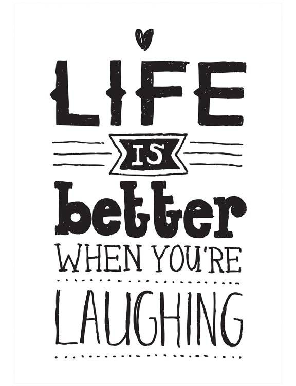 Paqhuis kaart A5 Life is better when you 're laughing