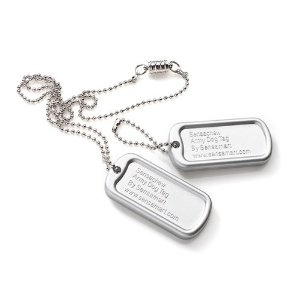Sensachew Dog Tag - Silver - Soft --- http://www.pinterest.com.tocool.in/6ct