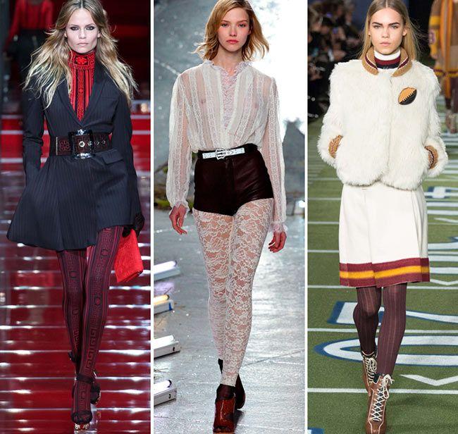 Осень/ Зима 2015-2016 Модные Тенденции: Колготки