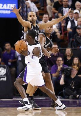Sacramento Kings guard Darren Collison,  San Antonio Spurs guard Tony Parker, forward Boris Diaw