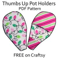 Designs by Call Ajaire: FREE PDF pattern the Thumbs Up Pot Holders