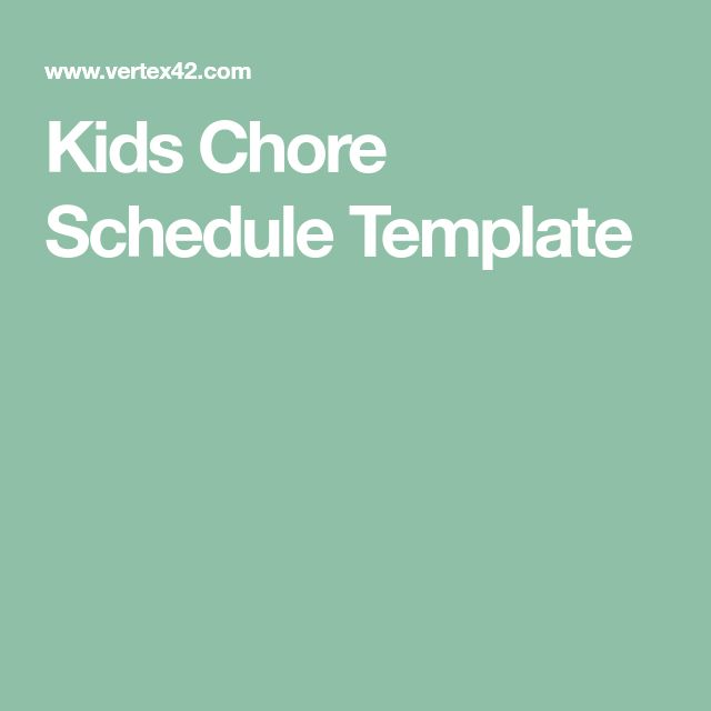 The 25+ best Schedule templates ideas on Pinterest Cleaning - chores schedule template