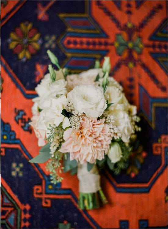 wedding bouquet #bouquet #pastelbouquet #weddingchicks http://www.weddingchicks.com/2014/04/14/vintage-eclectic-california-wedding/