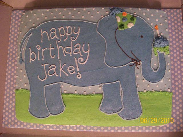 elephant cakes | First birthday elephant cake | Flickr - Photo Sharing!