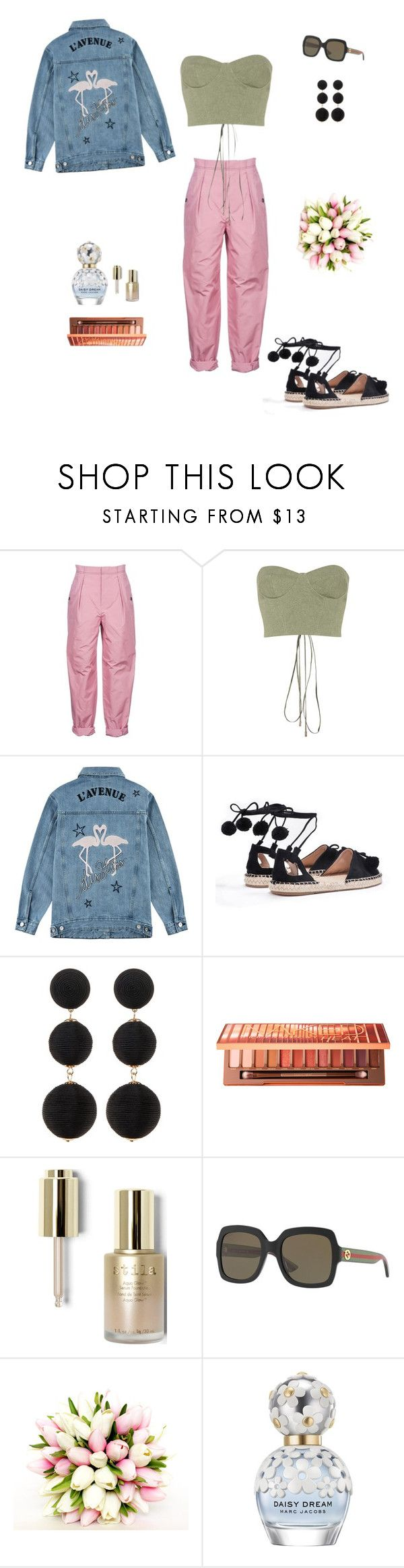"""💕"" by sofiakub ❤ liked on Polyvore featuring Bottega Veneta, Off-White, Être Cécile, Nasty Gal, Cara Accessories, Urban Decay, Stila, Gucci and Marc Jacobs"