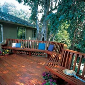 How to prepare and stain wood decks.