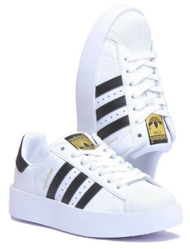 1a2eb0a582c0 1801-ADIDAS-SUPERSTAR-BOLD-PLATFORM-WOMEN-SHOES-BA7666-WHITE-BLACK ...