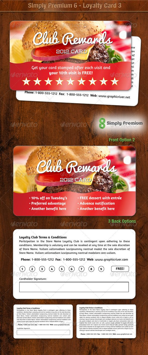 25 best ideas about Loyalty card design – Club Membership Card Template