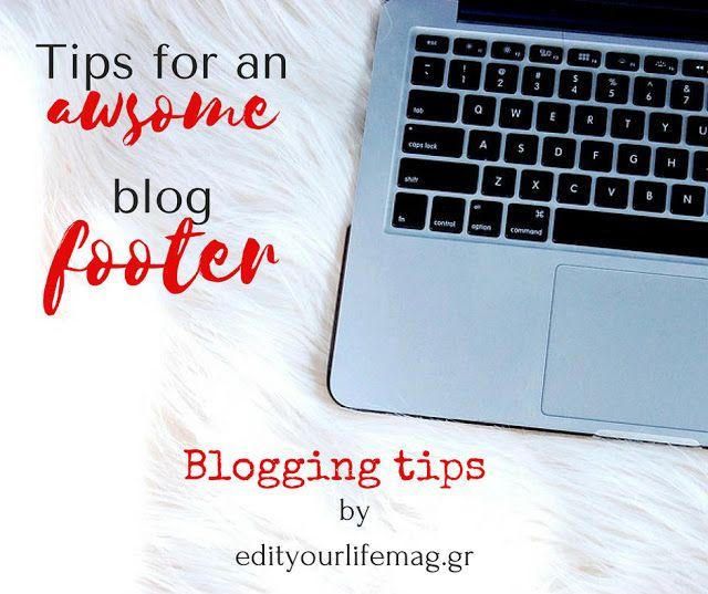 Πώς να αξιοποιήσετε το υποσέλιδο του ιστολογίου σας