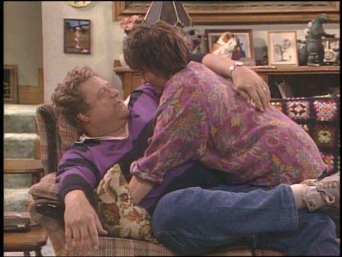John Goodman and Roseanne Barr in Roseanne