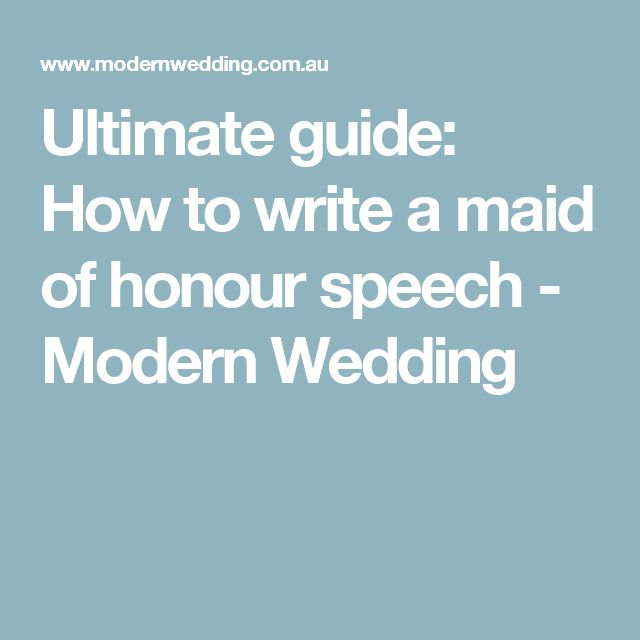 Best  Maid Of Honour Speech Ideas On   Maid Of Honor