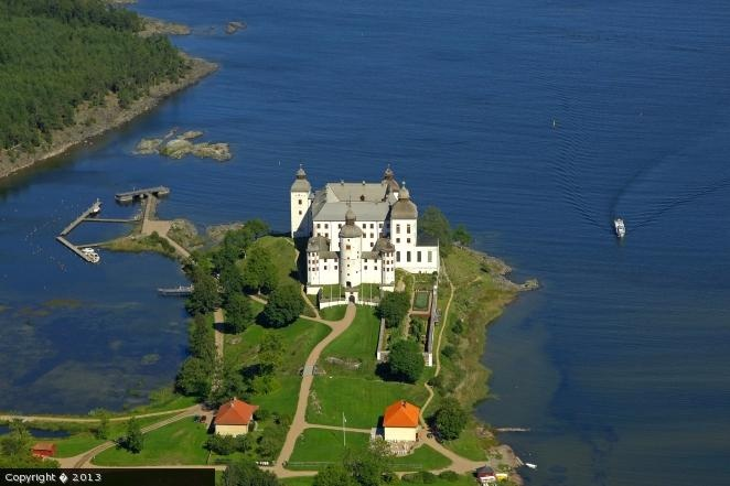Läckö castle with the oldest parts from 1298. Around 250 rooms inside. Sweden