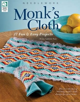 Monk's Cloth , Huck Embroidery -This is a fun Swedish Weaving pattern book for Monks cloth. Great way to decorate your home quickly with style and originality.                                                                                                                                                      More
