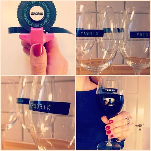 A dymo is useful in so many ways! Use it at your next dinner party
