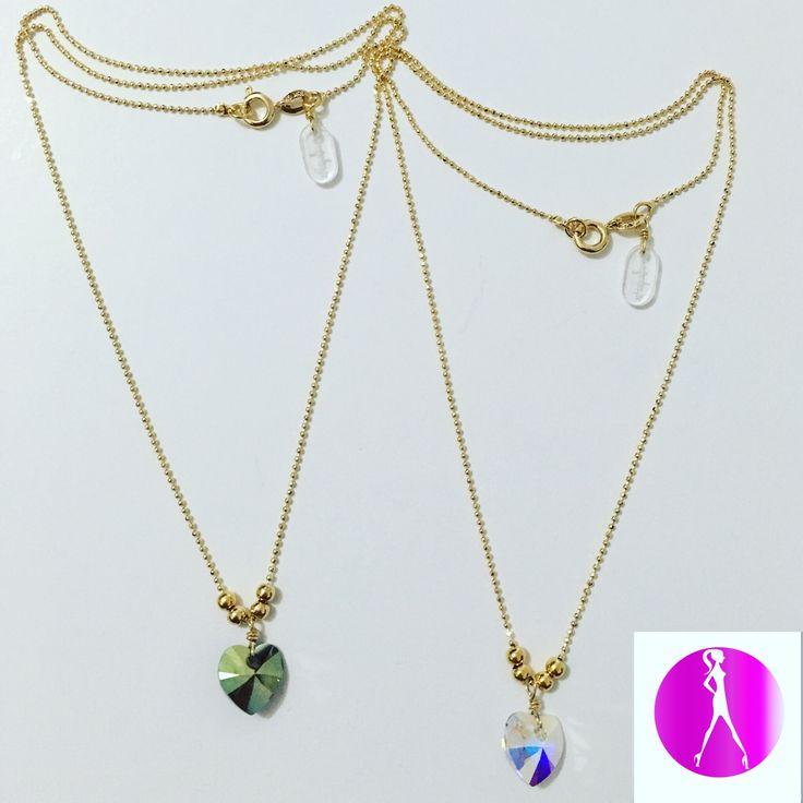 cadenas con dijes en murano, disponible en #LolaAccesorios #NewArrivals #Accesorios #fashionista