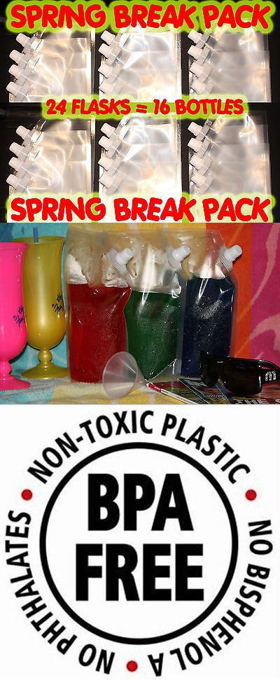 Flasks 63505: Plastic Flask 24 Pk 16Oz Great For Cruises, Runners, Rum, Wine, Sports Events -> BUY IT NOW ONLY: $39.99 on eBay!