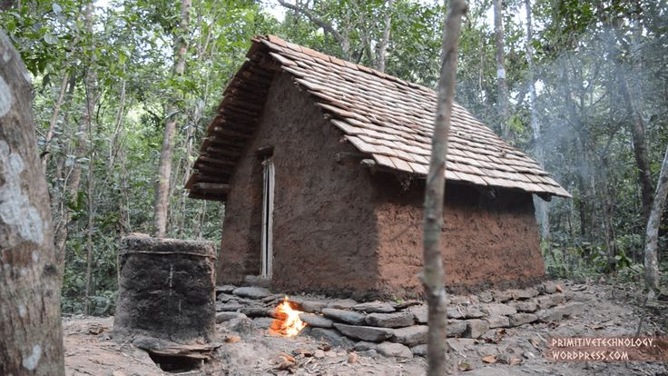 I built this tiled roof hut in the bush using only primitive tools and materials. The tools I used have been made in my previous videos. It should be pointed...