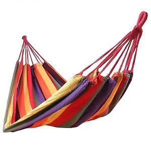 Hamaca-Colgante-Lona-multicolor-Viaje-Camping-Exterior-Interior-patio-Tllagrande