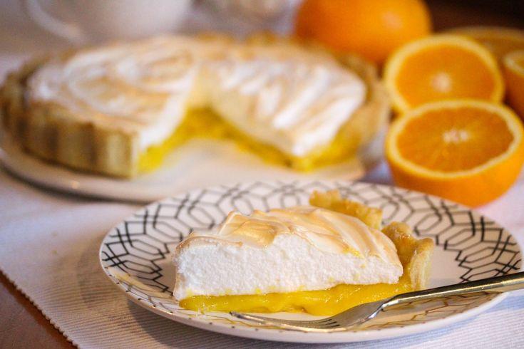Appelsin- og marengsterte: Terte med marengs og appelsin