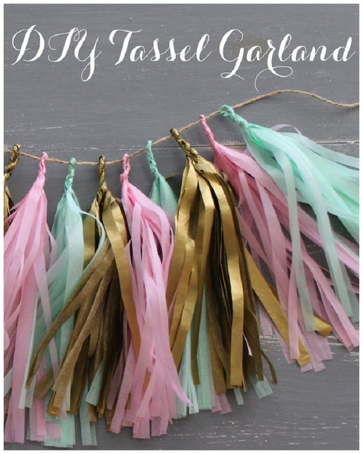 DIY Tassel Garland - Simple and with different colors, it can be used for any occasion!