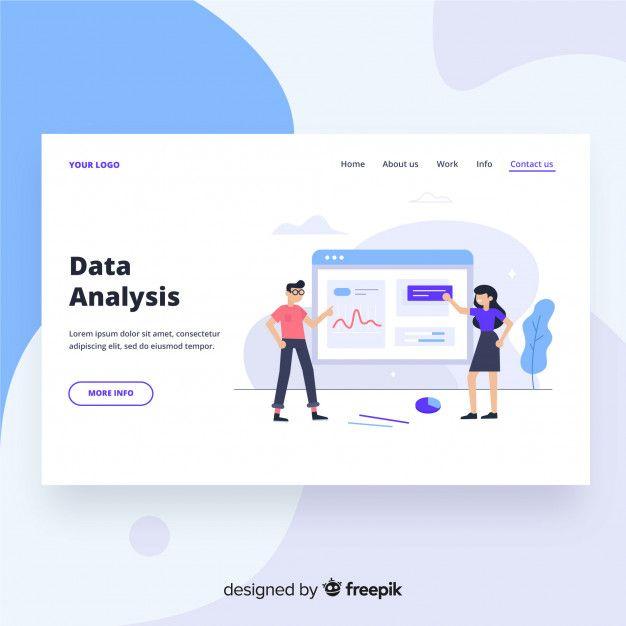 Download Data Analysis Landing Page For Free Web Design