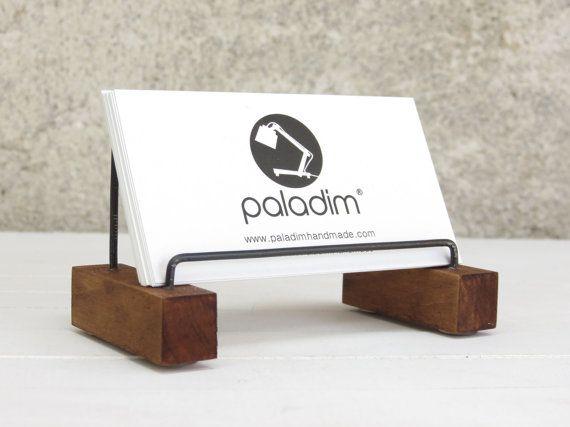 8 best wood stands images on pinterest card holder wood and business card holder vizitak desk decor desk card by paladim reheart Choice Image